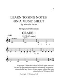 Learn to sing from a music sheet